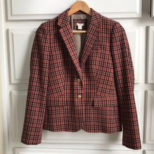 J Crew Plaid Blazer, Sz 6
